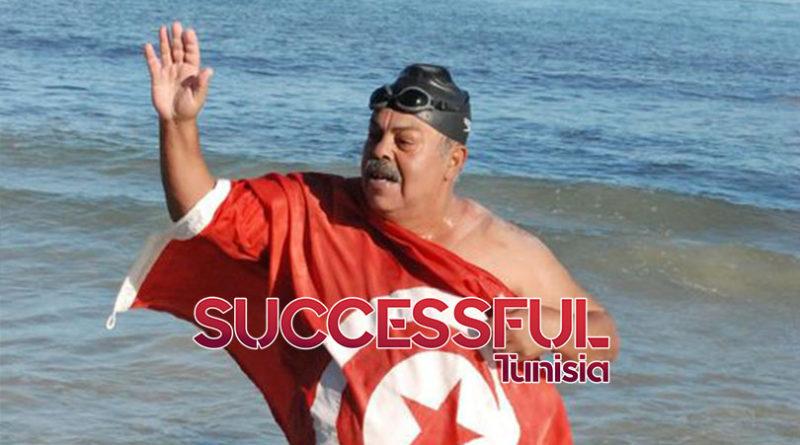 السباح التونسي نجيب بالهادي (59 سنة) يستعد لقطع مسافة 155كلم سباحة من تونس الى اطاليا