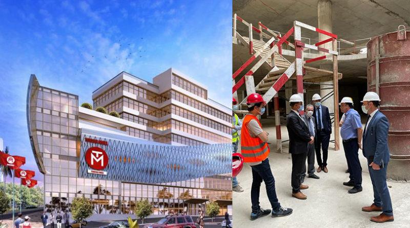 مدير عام بنك الQNB يؤدي زيارة الى مشروع  Ennaser Culturel Mall اول فضاء ثقافي وتجاري في تونس